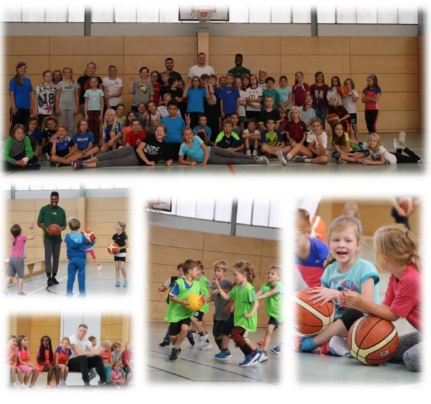 Basketballprojekttag in Kooperation mit dem SSV Lok Bernau e.V. an der Evangelischen Grundschule in Bernau